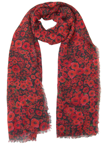 Poppy Design Scarf - Blooms of London - Designs inspired by nature