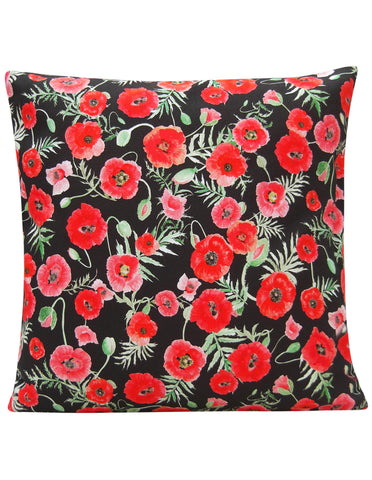 Poppy Design T Cushion Cover - Blooms of London - Designs inspired by nature