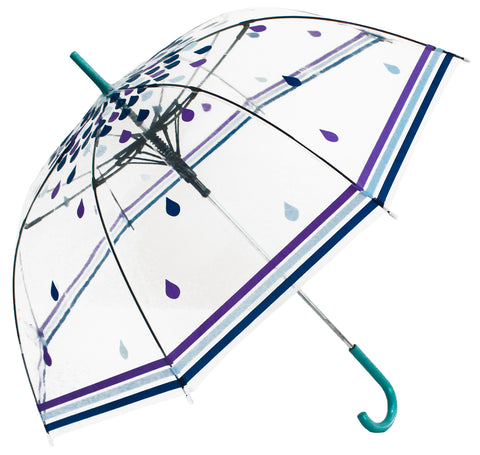 Rain Drops Transparent Umbrella - Blooms of London - Designs inspired by nature