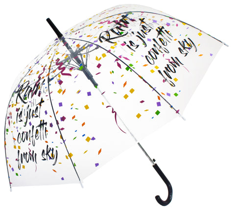 Rain is just confetti from sky Transparent Umbrella - Blooms of London - Designs inspired by nature