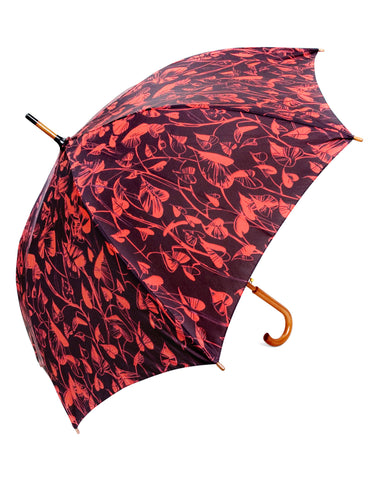 Heart Leaf  Red Umbrella - Blooms of London - Designs inspired by nature