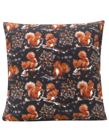 Red Squirrel Design Cushion - Blooms of London - Designs inspired by nature