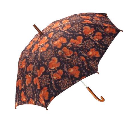 Red Squirrel Design Kids Umbrella - Blooms of London - Designs inspired by nature