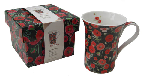 Red Poppy mug - Blooms of London - Designs inspired by nature