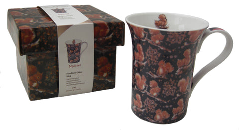 Red Squirrel mug - Blooms of London - Designs inspired by nature