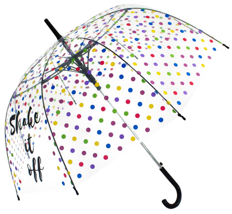 Shake it off Transparent Umbrella - Blooms of London - Designs inspired by nature