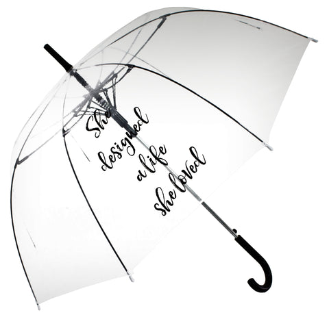 She designed a life she loved Transparent Umbrella - Blooms of London - Designs inspired by nature