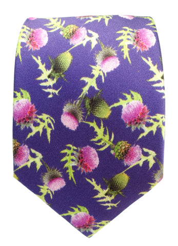 Thistle Print Silk Tie - Blooms of London - Designs inspired by nature