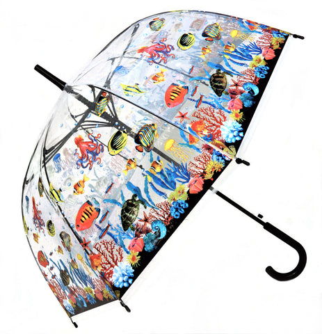 Coral Reef Transparent Umbrella