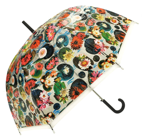 Water Lilies Transparent Umbrella - Blooms of London - Designs inspired by nature