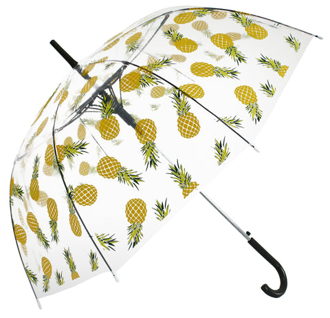 Yellow Pineapple Transparent Umbrella - Blooms of London - Designs inspired by nature