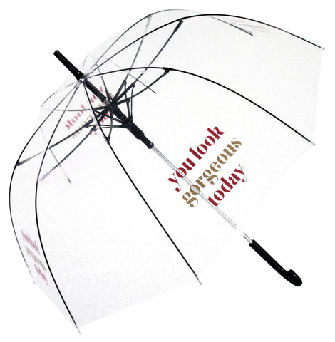 You Look Gorgeous Today Transparent Umbrella - Blooms of London - Designs inspired by nature