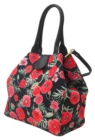Zara Poppy Design Handbag - Blooms of London - Designs inspired by nature
