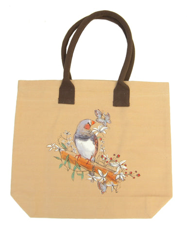Zebra Finch Shopping Bag - Blooms of London - Designs inspired by nature