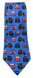 London Taxi Print Blue Silk Tie - Blooms of London - Designs inspired by nature