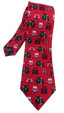 London Taxi Print Red Silk Tie - Blooms of London - Designs inspired by nature