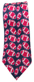 Rugby ball Print Silk Tie - Blooms of London - Designs inspired by nature