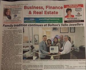 KING WEEKLY FEATURES TELLO JEWELLERS