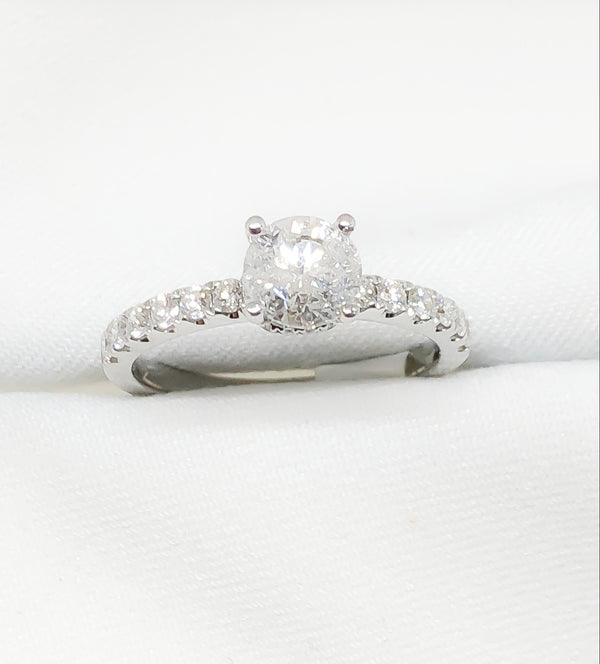18kt White Gold Engagement Ring 1.20 ct/tw