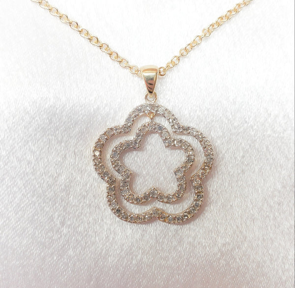 14kt. Star Diamond Pendant