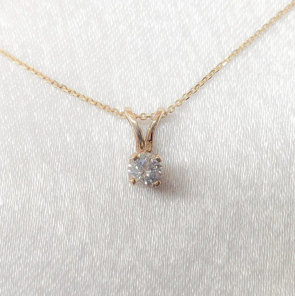 14kt. Diamond Solitaire Pendant