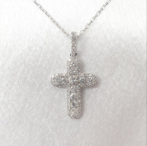18kt. White Gold Cross Pendant
