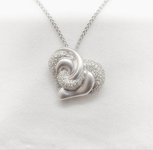 18kt. Diamond Puffed Heart Pend