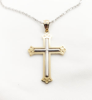 10kt. Two Tone Roman Cross