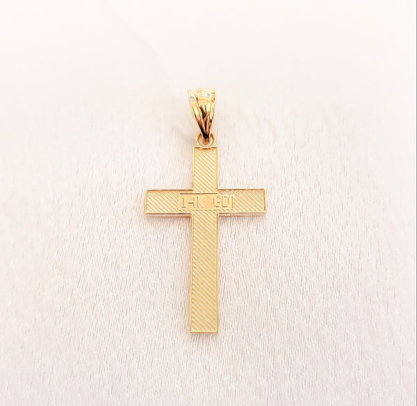 14kt. Stamped Cross