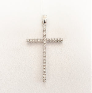 18kt. Cubic Zirconia Large Cross