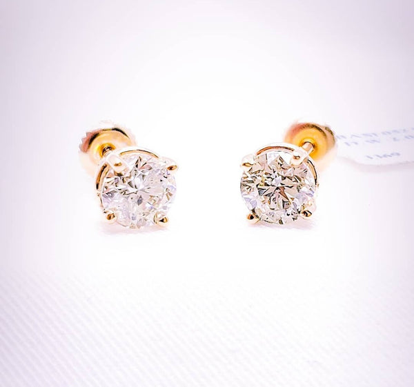2.02 ct Total Weight Diamond Stud Earrings in 14kt.