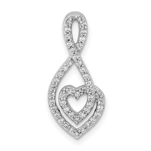 14kt White Gold 1/4ct. Diamond Fancy Heart Infinity Chain Slide