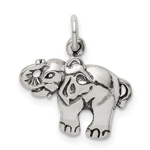 Sterling Silver Antique Elephant Charm