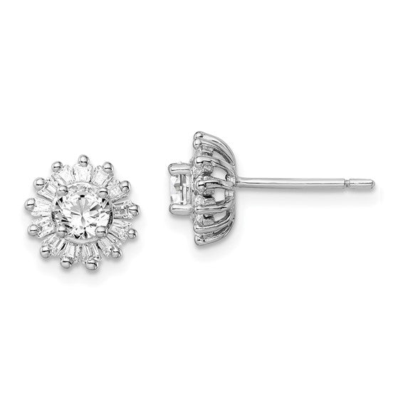 Sterling Silver & Cubic Zirconia Post Earrings