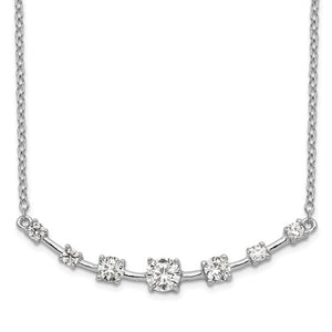 Sterling Silver & Cubic Zirconia Bar Necklace