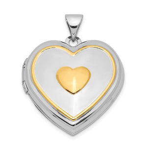 Sterling Silver Gold-plated Heart Locket