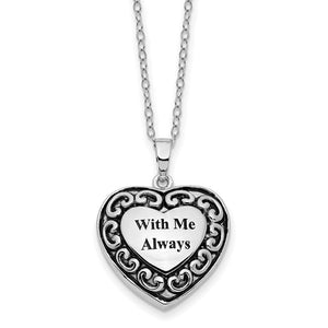 "Sterling Silver ""With Me Always"" Ash Holder Necklace"