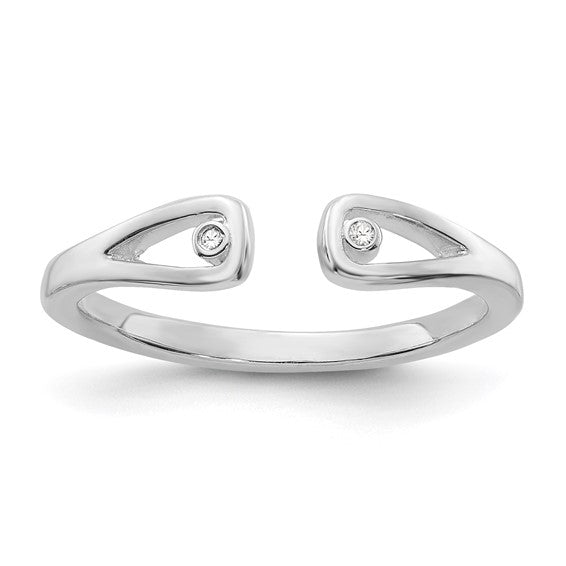 Sterling Silver & Diamond Open Ring
