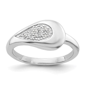 Sterling Silver & Diamond Pave Ring