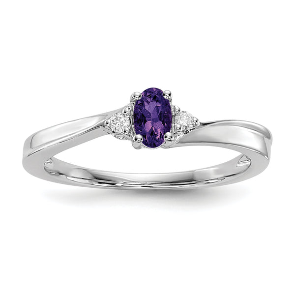 February Sterling Silver Birthstone Ring