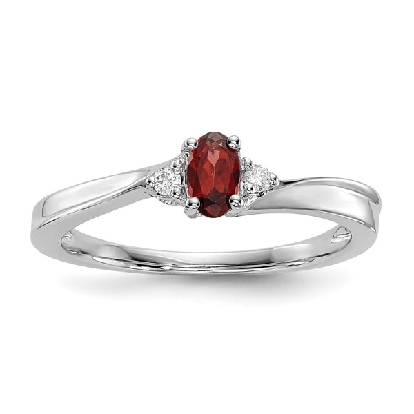 January Sterling Silver Birthstone Ring