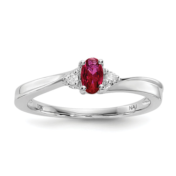 July Sterling Silver Birthstone Ring