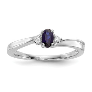 September Sterling Silver Birthstone Ring