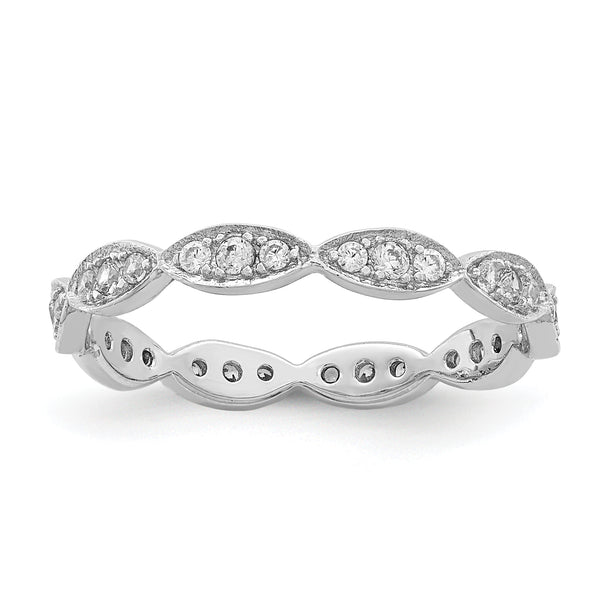 Sterling Silver Fancy Scalloped Band
