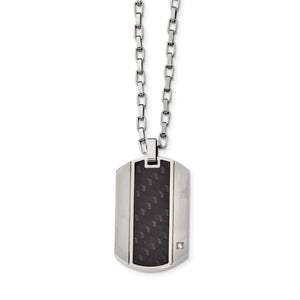 Black Carbon Fiber Inlay Necklace