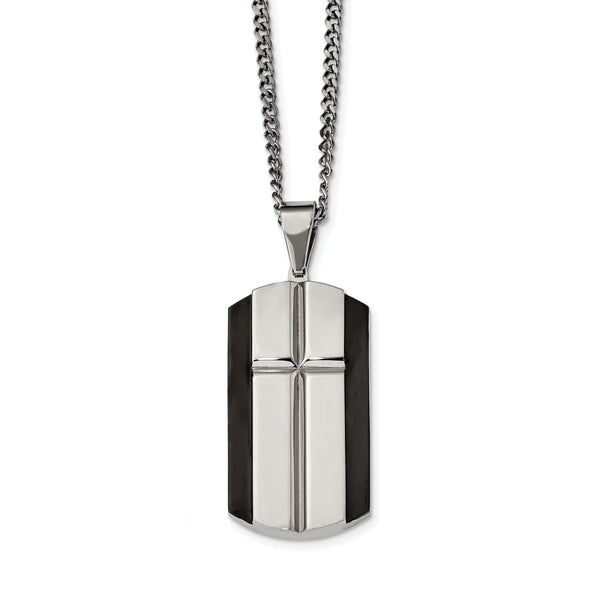 Stainless Steel Black IP-Plated Pendant