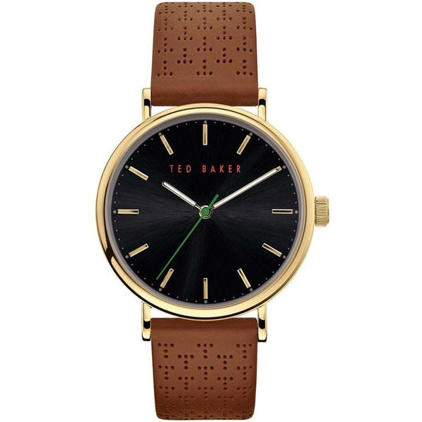 MIMOSSA T perforated leather strap watch