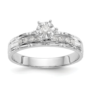 14k White Gold Trio Engagement Ring