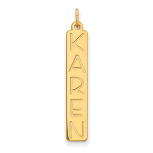 Vertical name bar (Gold)