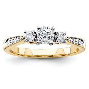 14k Diamond Semi-Mount Engagement Ring